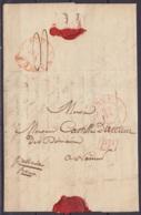 """L. Datée 28 Février 1834 De ENVOZ Càd HUY /28 Février 1934 Pour NAMUR - [P.P.] - Man. """"pressante Franco"""" (au Dos: Càd NA - 1830-1849 (Belgique Indépendante)"""