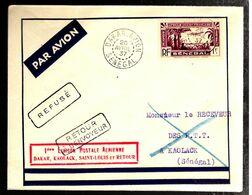 35580 - VOL DAKAR  - KAOLACK  - SAINT  LOUIS ET RETOUR - Senegal (1887-1944)