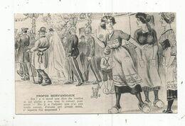 Cp , HUMOUR , Propos Morvandiaux , La Mariée ,la Rosière,mariage ,militaires , Vierge , Ed. Combier - Humor