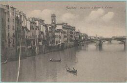 CPA:  FIRENCE  (italie):   Lungarno Al Pont S.TRINITA.     (G197) - Firenze (Florence)