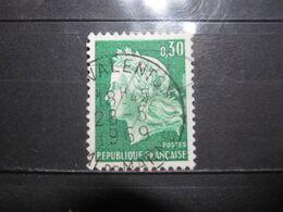 """VEND BEAU TIMBRE DE FRANCE N° 1536A , OBLITERATION """" VALENTON """" !!! - 1967-70 Marianne De Cheffer"""