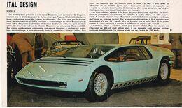 Feuillet De Magazine Ital Design Monta - Cars