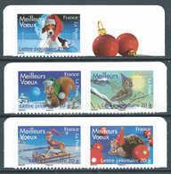 France - 2007 - Timbres Issus De Carnets  - Meilleurs Voeux - N° Adhesifs 140 à 144 - Neuf ** MNH - Adhésifs (autocollants)