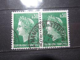 """VEND BEAUX TIMBRES DE FRANCE N° 1611 EN PAIRE , OBLITERATION """" NANCY """" !!! - 1967-70 Marianne De Cheffer"""
