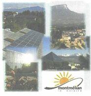MONTMELIAN LA SOLAIRE SAVOIE - PANNEAUX SOLAIRES, FLEURS, VUES DE LA VILLE, PAP ENTIER POSTAL FLAMME NEOPOST 2008, - Holidays & Tourism
