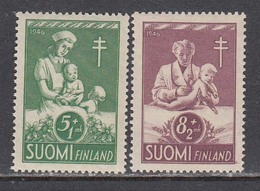 Finland 1946  Bekaempfung Der Tuberkulose, Mi-Nr. 326/27, MNH** - Finland