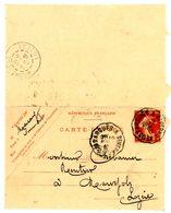 CANTAL AVEYRON CL ENTIER 10C SEMEUSE 1912 CONVOYEUR NEUSSARGUES A SEVERAC - 1877-1920: Periodo Semi Moderno
