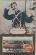 MARNE CAMP DE CHALONS LES BARAQUEMENTS VUE DE HAUT DU PHARE SOUVENIR DU 106e REGIMENT D'INFANTERIE - Camp De Châlons - Mourmelon