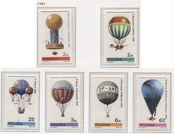 POLAND 1981 Mi 2731-36 Balloon Sport, Full Set MNH ** - Stamps