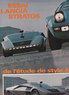 Feuillet De Magazine Lancia Stratos 1974 Essai - Cars