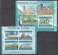 TG1257 2010 TOGO TOGOLAISE FIRST TRAINS PREMIERS TRAINS 1KB+1BL MNH - Trains