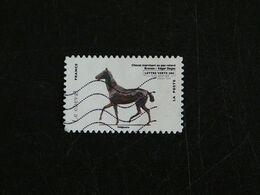 FRANCE YT ADHESIF 786 OBLITERE - LES ANIMAUX DANS L'ART - CHEVAL HORSE PFERD BRONZE - Adhésifs (autocollants)