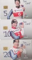 Switzerland, CP-196 - 198, Set Of 3 Cards, Swiss Ski Alpin, , 2 Scans. - Svizzera