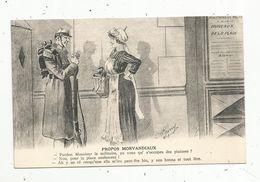 Cp , HUMOUR , Propos Morvandiaux ,pardon Mossieur Le Militaire..., Vierge , Ed. Combier - Humor