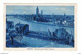 VERONA:  PANORAMA  DAL  TEATRO  ROMANO  -  PIEGA  D' ANGOLO  -  PER  L' AUSTRIA  -  FP - Verona