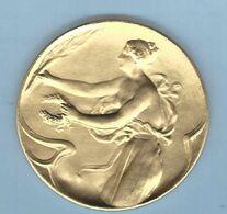 (GENT) Médaille Revers « Aangeboden Door De Haarkappersberoepschool GENT » - Professionnels / De Société