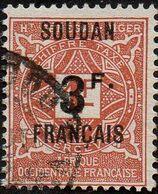Soudan Obl. N° Taxe 10 - Ornements Surchargé 3f Sur 1f Brun-jaune - Sudan (1894-1902)