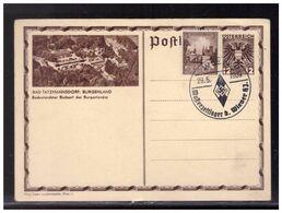 DR- Reich (008521) Propaganda Österr. Ganzsache Mit Blanco SST Wien Musterzeltlager D. Wiener HJ, Gestempelt 29.5.1939 - Germany
