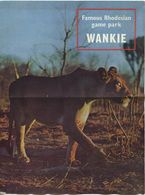Rhodesien - Wankie National Park 60er Jahre - Famous Rhodesian Game Park - Faltblatt Mit 12 Abbildungen - Beiliegend Pla - Folletos Turísticos