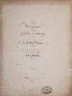 Spartiti - Variations Pour Le Piano Par Ad. Adam - Old Paper