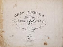Spartiti - Gran Sinfonia Nell'Opera Di Herold Per Pianoforte A Quattro Mani - Old Paper