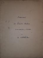 Spartito Manoscritto - Souvenir - Fantaisie Pour Piano Di A. Goria - Secolo XIX - Old Paper