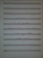 Spartito Manoscritto - Ave Maria Per Mezzosoprano Di G. Manzocchi - Secolo XIX - Old Paper