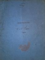 Spartito Manoscritto - Trios De L. V. Beethoven - Violon -  Secolo XIX - Old Paper