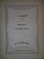 Spartito Manoscritto - Quartetto Dei Puritani Di F. Ferraris - Secolo XIX - Old Paper