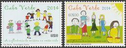 CAPE VERDE IS. - 2014 - Childrens Drawings - Perf 2v Set - M N H - Cape Verde