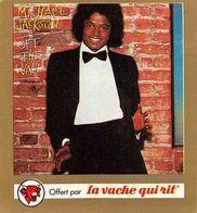 2 Images Michael Jackson La Vache Qui Rit Fromagerie Bel - Old Paper