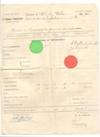 Bulletin Scolaire - Ville De LIEGE - Ecole Moyenne Professionnelle De Demoiselles - Confection - Année 1920/21 (b284) - Diploma's En Schoolrapporten