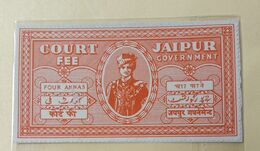 (2).... India Inde .Jaipur 4 Anna Court Fee Stamp - Jaipur