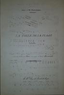 Spartito Manoscritto - La Folle De La Plage Pour Piano Par P. Henrion Secolo XIX - Old Paper