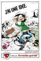 Gaston Lagaffe Série Complète 18 Images Adhésif Autocollant La Vache Qui Rit Fromagerie Bel 1986 - Old Paper