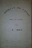 Spartito Manoscritto - Bouquet De Valses Pour Piano Par Ernest Boué - Secolo XIX - Old Paper