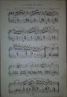Spartito Manoscritto - Les Bords Du Rhin Pour Piano Par F. Hünten - Secolo XIX - Old Paper