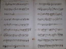 Spartito Manoscritto - La Prise De Sebastopol Per Piston Par Leduc - Secolo XIX - Old Paper