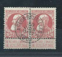 N°74 EN PAIRE OBLITERE  ARLON-BRUXELLES 2 - 1905 Thick Beard
