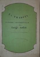 Spartito Manoscritto - La Tradita - Romanza Pour Piano Par L. Arditi Secolo XIX - Old Paper