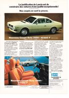 Feuillet De Magazine Lancia Beta Coupé 1976 - Cars