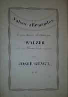 Spartito Manoscritto - Terpsichores Schwingen - Walzer Für Piano - Secolo XIX - Old Paper