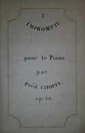 Spartito Manoscritto - Impromptu Pour Le Piano Par Frédéric Chopin - Secolo XIX - Old Paper