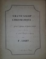 Spartito Manoscritto - Grand Galop Chromatique Pour Piano Par Liszt - Sec. XIX - Old Paper