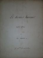 Spartito Manoscritto - Le Dernier Souvenir Pour Piano Par H. Ravina - Secolo XIX - Old Paper