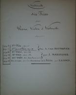 Spartito Manoscritto - Six Trios Pour Piano - Violoncelle - Violon - Secolo XIX - Old Paper