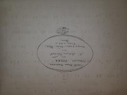 Spartito Manoscritto - Polka Mazurka Par M. Antonin Vernet - Secolo XIX - Old Paper