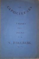 Spartito Manoscritto - Les Capricieuses - Valses Pour Piano Par S. Thalberg - Old Paper