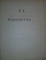 Spartito Manoscritto - La Magicienne - Priere Par M. Borghi Mamo - Secolo XIX - Old Paper