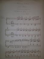 Spartito Manoscritto - Fantaisie Brillante Pour Piano Par E. Font - Secolo XIX - Old Paper